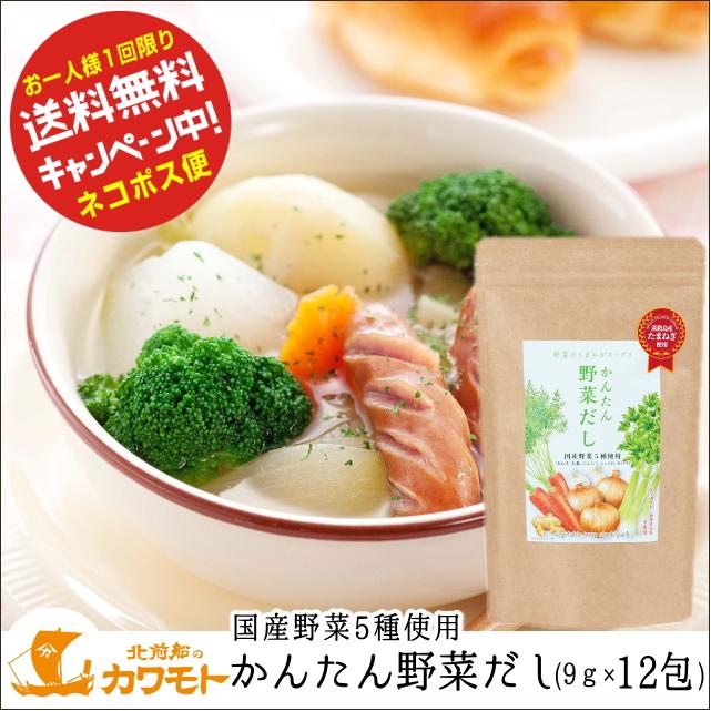 【お一人様1袋限りお試し価格】かんたん野菜だし(9g×12包)